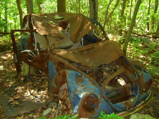 Old Beetle on the aptly named Volkswagen Trail